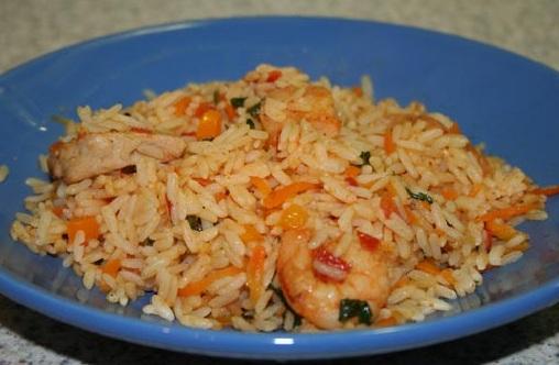 рис с морепродуктами в мультиварке фото