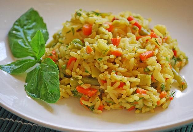 гарнир из риса с овощами фото
