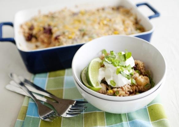запеканка из риса и курицы фото