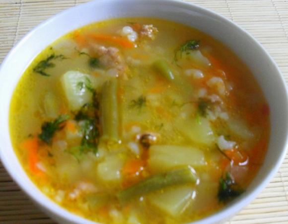 как варить рисовый суп с мясом фото