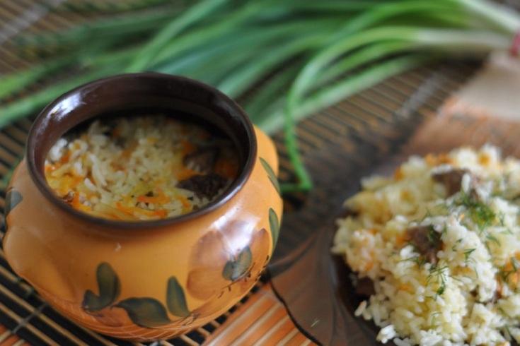 рис с овощами в горшочке фото