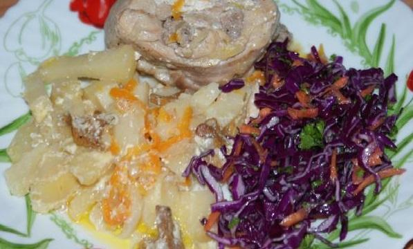 рецепты из кролика в духовке с картошкой