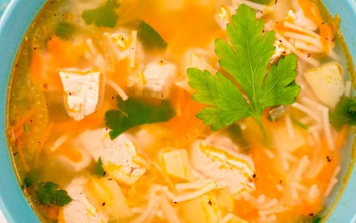 Суп из филе курицы с фото пошагово