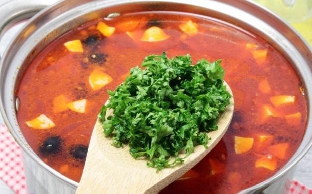 рецепт простой солянки мясной сборной классический пошаговый рецепт с фото