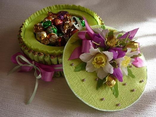 Поделки шкатулка из конфет 58