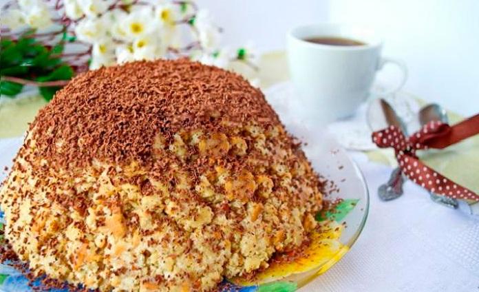 торт муравейник из печенья пошаговый рецепт с фото