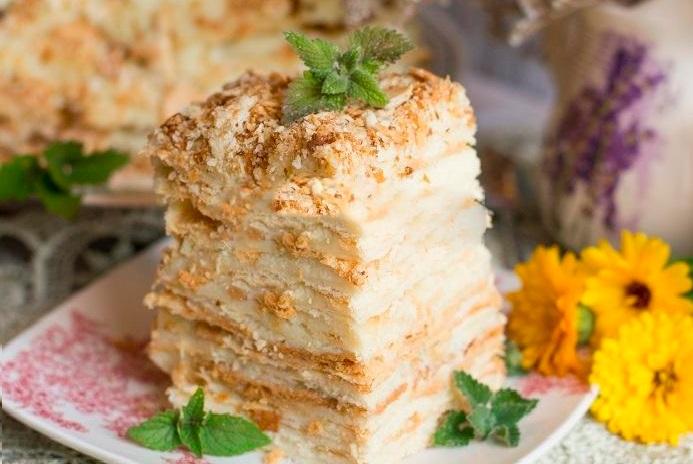 Рецепты с фото и приготовлением торта наполеон